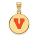 SS w/GP U of Virginia Medium Enamel Disc Pendant