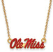 SS w/GP U of Miss Sm Enamel Pendant w/necklace