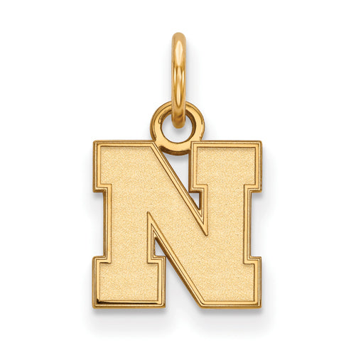 SS w/GP University of Nebraska XS Logo Pendant