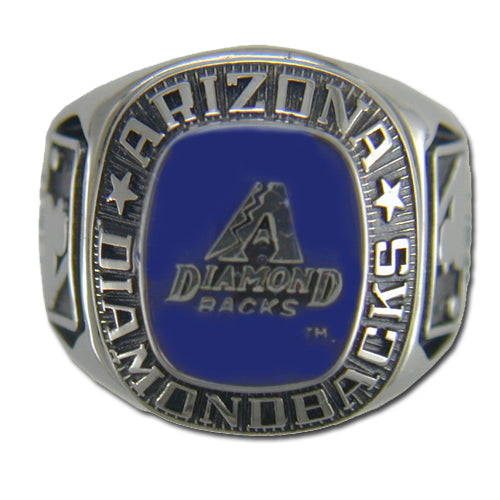 Arizona Diamondback Classic Silvertone Major League Baseball Ring