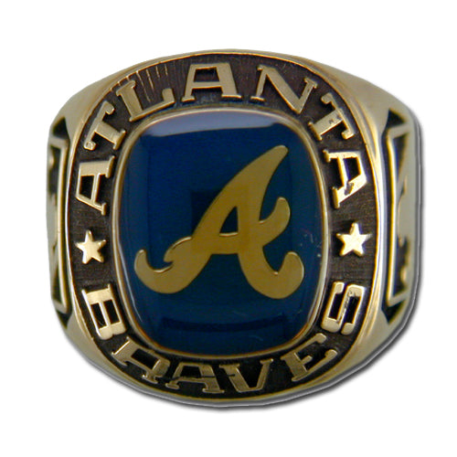 Atlanta Braves Classic Goldplated Major League Baseball Ring