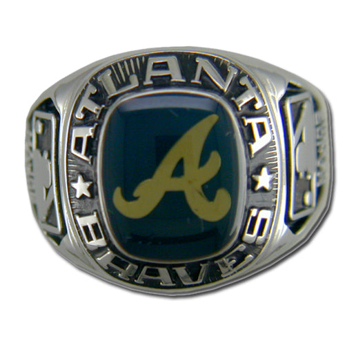 Atlanta Braves Classic Silvertone Major League Baseball Ring