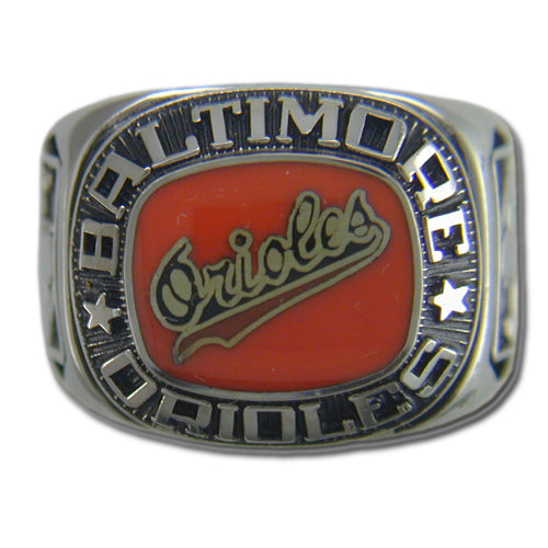 Baltimore Orioles Classic Silvertone Major League Baseball Ring