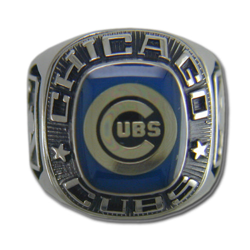 Chicago Cubs Classic Silvertone Ring