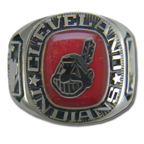 Cleveland Indians Classic Silvertone Major League Baseball Ring