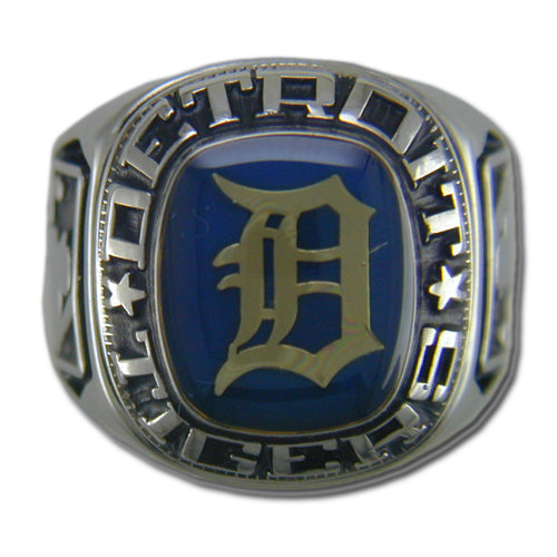 Detroit Tigers Classic Silvertone Ring