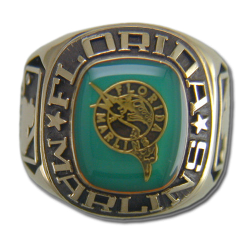 Florida Marlins Classic Goldplated Ring