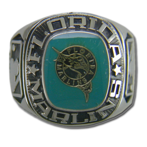 Florida Marlins Classic Silvertone Ring