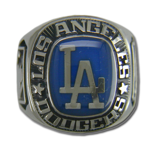 Los Angeles Dodgers Classic Silvertone Major League Baseball Ring