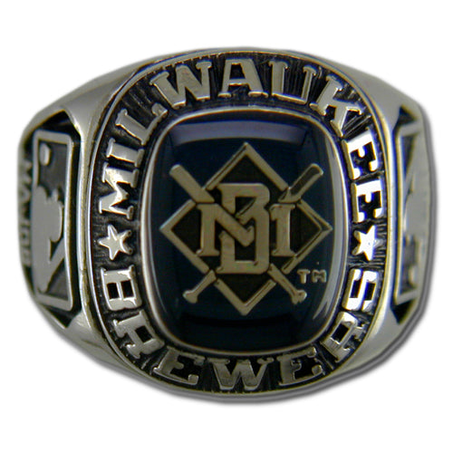 Milwaukee Brewers Classic Silvertone Ring