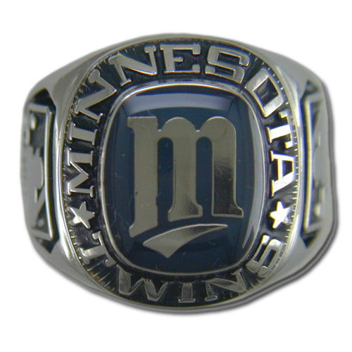 Minnesota Twins Large Classic Silvertone Major League Baseball Ring
