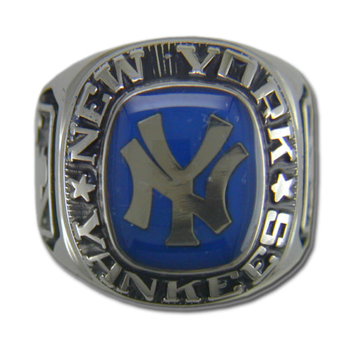New York Yankees Classic Silvertone Ring