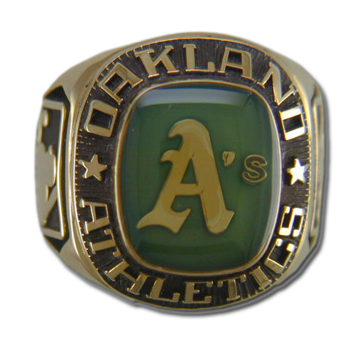 Oakland Athletics Classic Goldplated Ring