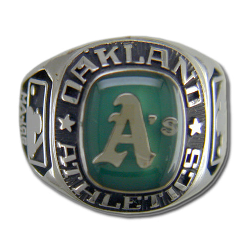 Oakland Athletics Classic Silvertone Ring