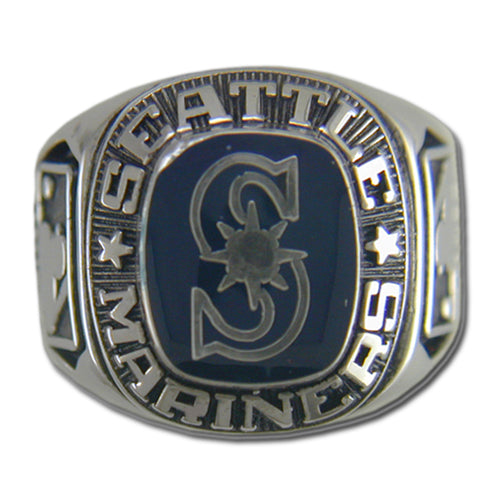 Seattle Mariners Classic Silvertone Ring