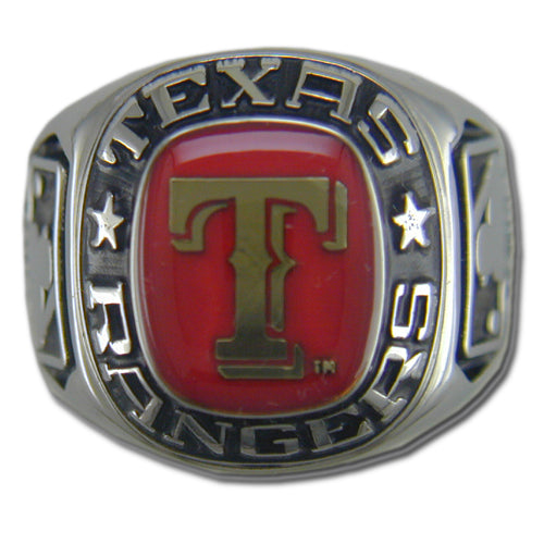 Texas Rangers Classic Silvertone Ring