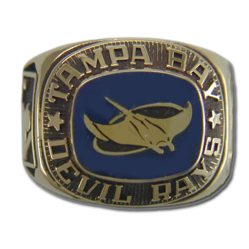 Tampa Bay Rays Classic Goldplated Ring