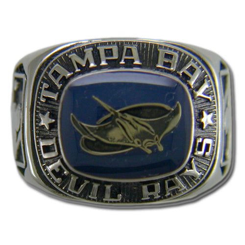 Tampa Bay Rays Classic Silvertone Ring