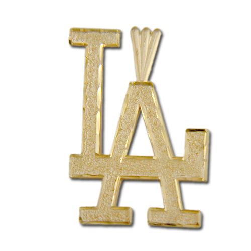 "Los Angeles Dodgers ""LA"" 14 kt Gold Large Pendant"