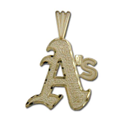 Oakland Athletics A logo 14 kt Gold Pendant
