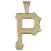 Pittsburgh Pirates P logo 14 kt Gold Pendant