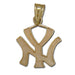 New York Yankees NY 14 kt Gold Pendant
