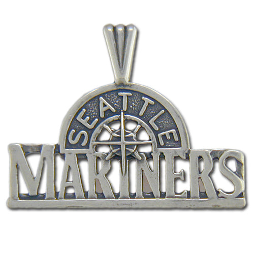 Seattle Mariners logo Silver Pendant