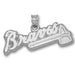 Atlanta Braves BRAVES with Tomahawk Large Pendant
