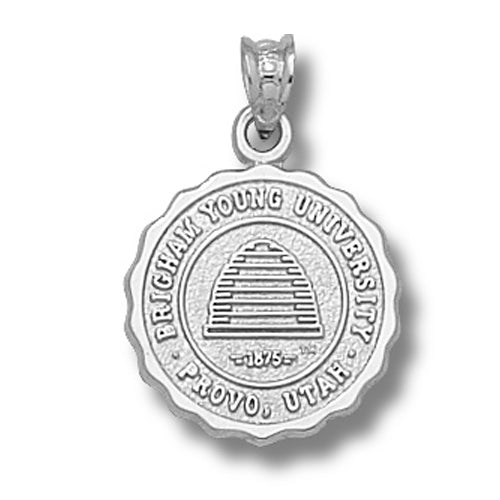 Brigham Young University Seal Silver Pendant