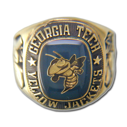 Georgia Tech University Men's Large Classic Ring