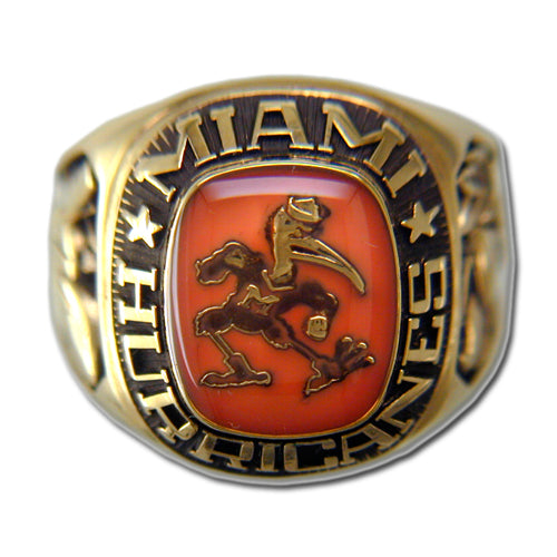 University of Miami Men's Large Classic Ring