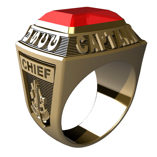 USCG Licensed Captains Ring - Championship Style Type I