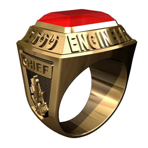 USCG Licensed Engineers Ring - Championship Style Type I