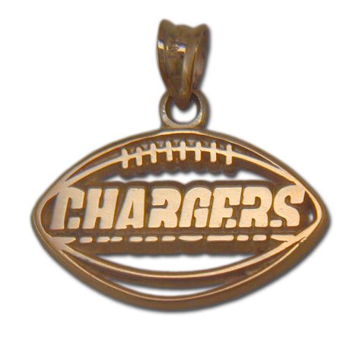 Los Angeles Chargers Pierced Football