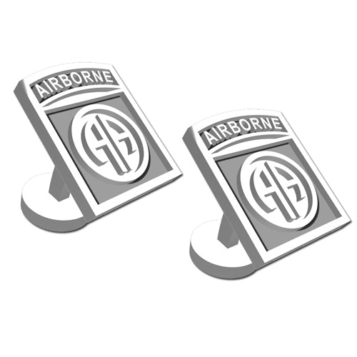 82nd Airborne Division Sterling Silver Cufflinks