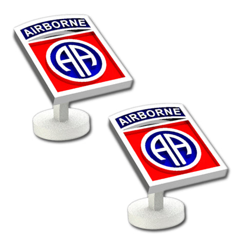 82nd Airborne Division Sterling Silver Cufflinks with enamel