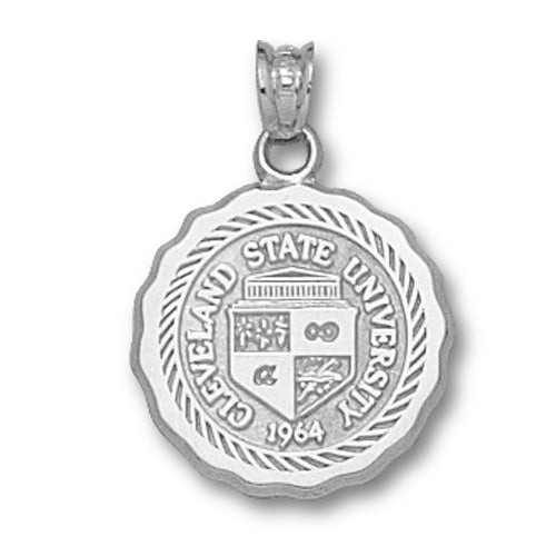 Cleveland State University Seal Silver Pendant