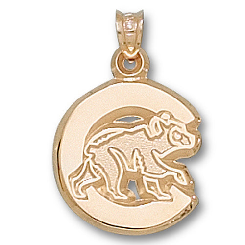 "Chicago Cubs ""C"" with Bear 10 kt Gold Pendant"