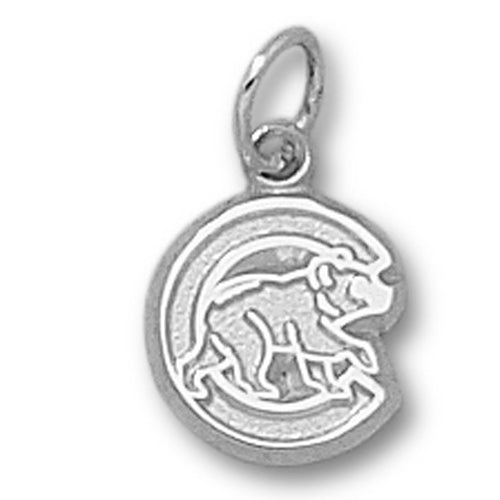 "Chicago Cubs ""C"" w/Bear Silver Pendant"