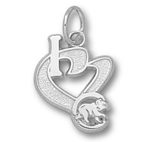 Chicago Cubs I Heart Logo Pendant
