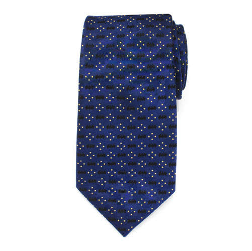 Batman Icon Diamond Dot Navy Mens Tie
