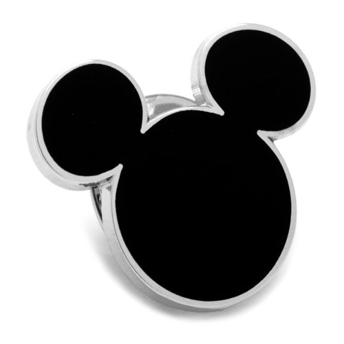 Black Mickey Mouse Silhouette Lapel Pin