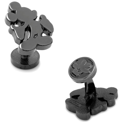 Black Mickey Mouse Silhouette Cufflinks
