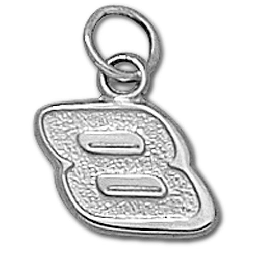 #8 NASCAR Driver Sterling Silver Small Pendant