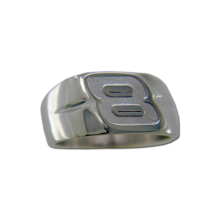 #8 NASCAR Driver Sterling Silver Ring