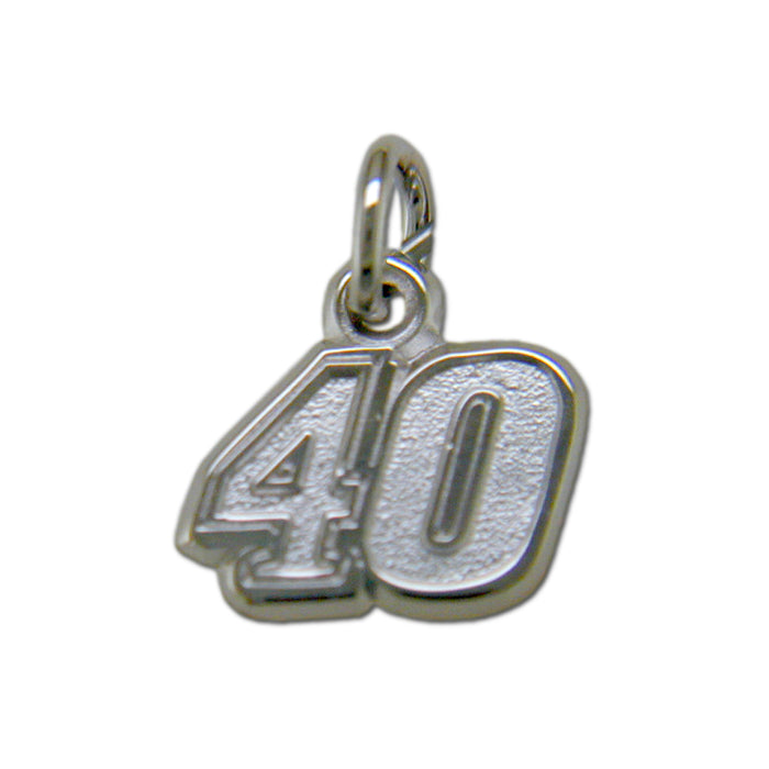 #40 NASCAR Driver Sterling Silver Small Pendant