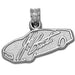 Jeff Burton Signature Car Sterling Silver Pendant