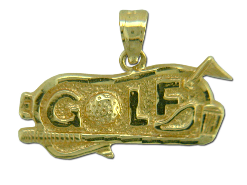 Golf Green 14 kt gold Pendant