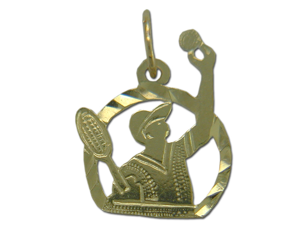 Tennis Serve 14 kt Gold Pendant