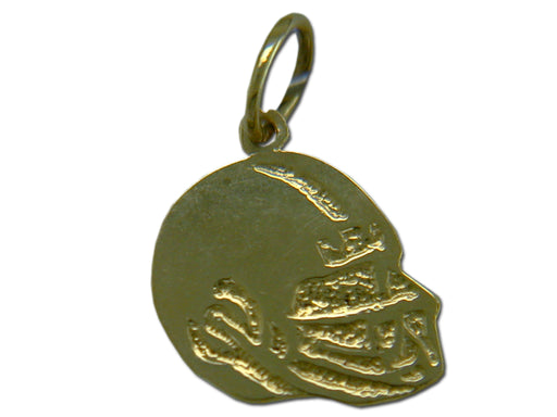 Football Helmet Left Side 14 kt Gold Pendant